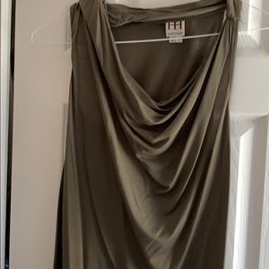Haute hippie olive sleeveless top